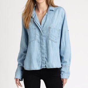 Bella Dahl Split Back Chambray Shirt